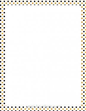 Dot Border Cliparts - Paper Halloween Polka Dot Clip Art PNG