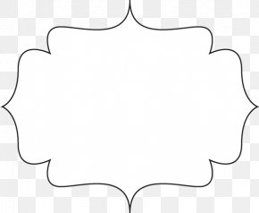 Frame Outline Cliparts - Paper Line Black And White Angle Point PNG