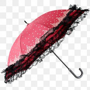 Red Wave Point Lace Umbrella - Umbrella 2014 Hong Kong Protests Lace PNG