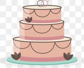 Vector Hand-painted Wedding Cake - Wedding Cake Torte Birthday Cake PNG
