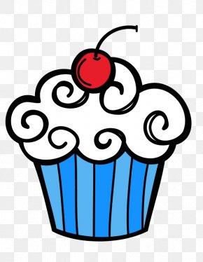 Birthday Clip Art - Cupcake Black Clip Art PNG