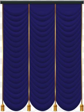 Blue Curtain Transparent Clip Art - Purple Design Product Pattern PNG