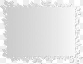 Beautiful Snowflake Border - Snowflake Euclidean Vector PNG