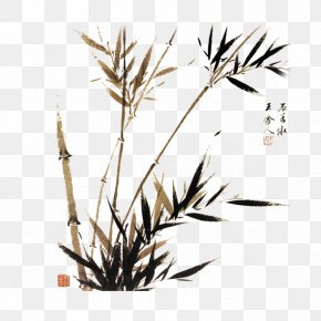 Bamboo - Watercolor Painting Chinese Painting Japanese Painting Chinese Art PNG