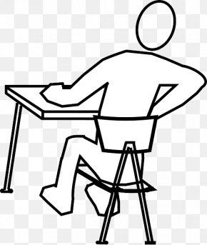 Uncomfortable Student Cliparts - Standing Desk Sitting Office & Desk Chairs PNG