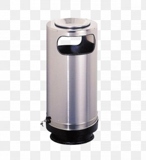 Solid Stainless Steel Trash Can - Waste Container Stainless Steel Plastic PNG