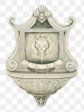Water Fountain - Stone Sculpture Fireplace Photography PNG