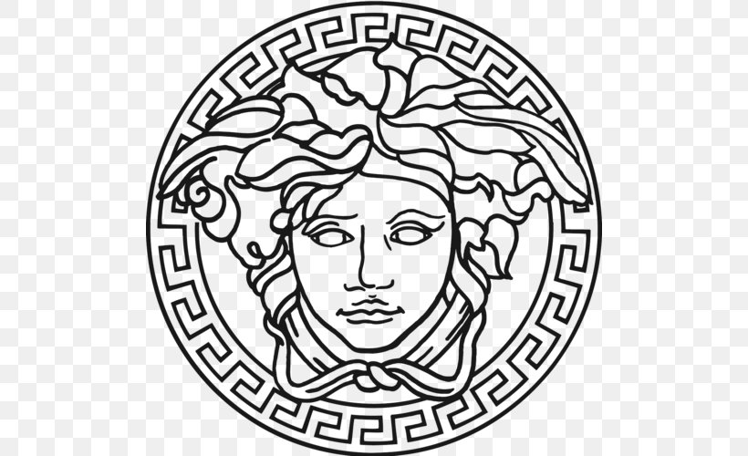 Versace Logo Clip Art Gucci Italian Fashion Png 500x500px Versace Art Black And White Christian Dior