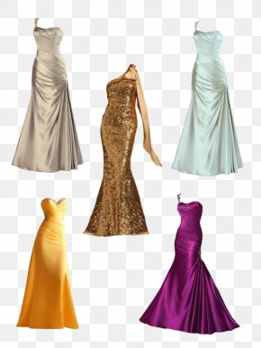 Dress - Dress Evening Gown Formal Wear Prom PNG