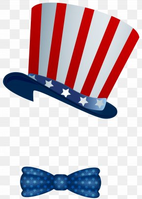 American Hat And Bowtie Clip Art Image - Flag Of The United States T-shirt Hat Clip Art PNG