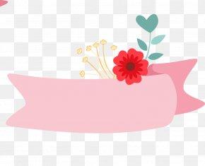 Cartoon Pink Flower Title Box - Pink Flower PNG