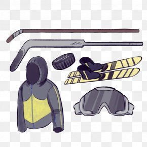 Vector Male Ski Suit - Skiing Ice Skating Ice Hockey Goggles PNG