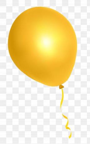Yellow Balloon - Yellow Balloon Font PNG