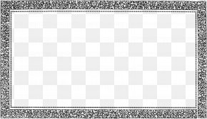 Vintage Border Frame Pic - Black And White Square Area Board Game Pattern PNG