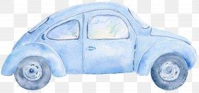 Vintage Car - Car Watercolor Painting Clip Art PNG