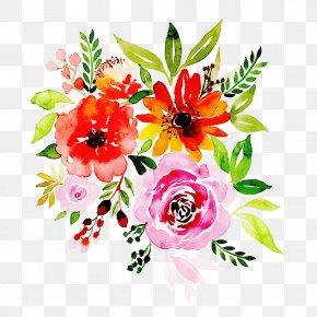 Watercolor Paint Floral Design - Floral Design PNG