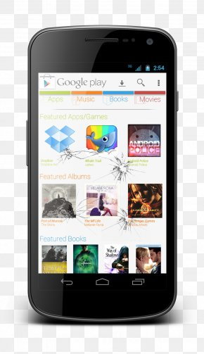 Broken Screen Android Smart Large Screen - Google Play Mobile App App Store Optimization Mobile Phone Smartphone PNG