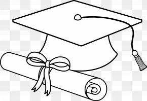 College Graduation Cliparts - Square Academic Cap Graduation Ceremony Black And White Clip Art PNG