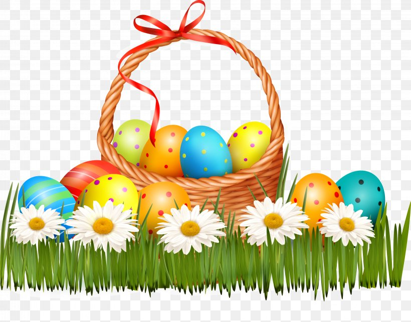 Easter Bunny Easter Egg Basket, PNG, 3264x2561px, Easter Bunny, Basket, Easter, Easter Basket, Easter Egg Download Free