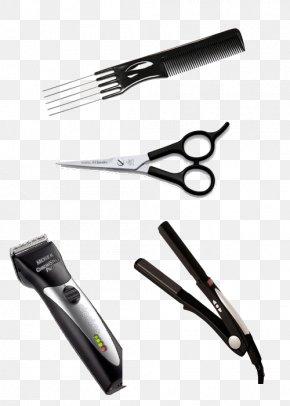 Scissors - Scissors Hair Clipper Barber Hair Iron Comb PNG