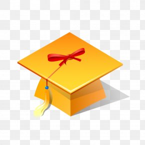 Bachelor Of Cap Yellow Vector Quasiphysical - Bachelors Degree Hat PNG