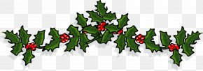 Small Holiday - Christmas Ornament Common Holly Clip Art PNG