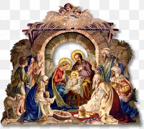 Christmas Creche Cliparts - Royal Christmas Message Holy Family Nativity Scene Nativity Of Jesus PNG