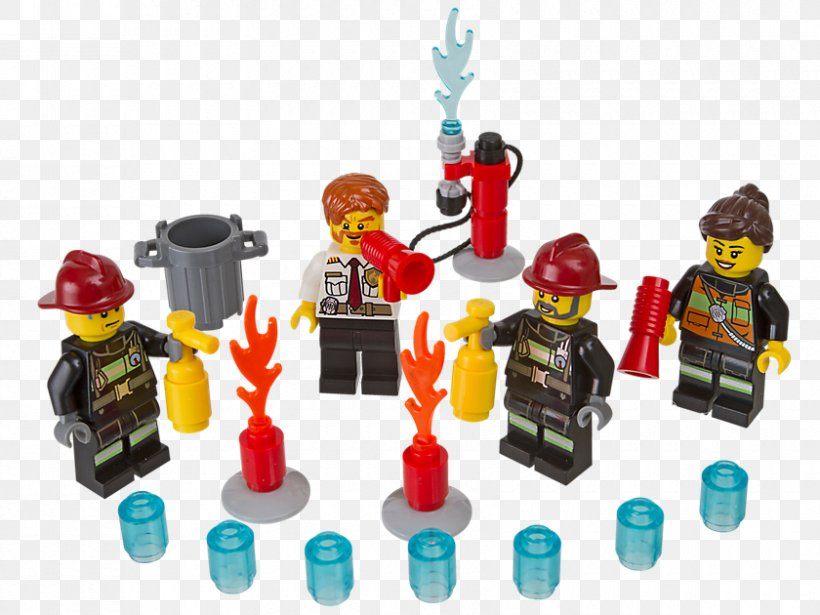 LEGO CITY Firefighter OF 10 Lego MiniFigures