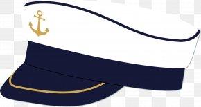 Vector Painted Navy Cap - Cap Hat Sailor PNG