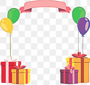 Baby Toys Greeting Note Cards - Birthday Gift Box PNG