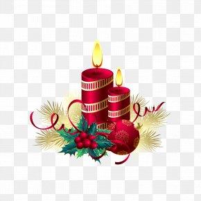 Christmas Candles - Candle Christmas Birthday Cake Illustration PNG