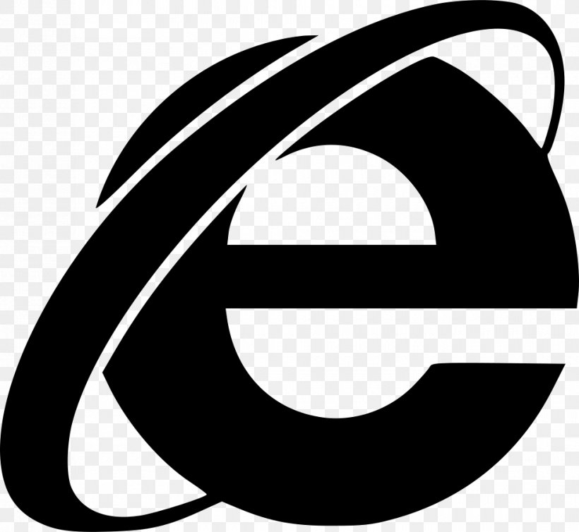Internet Explorer 11, PNG, 980x902px, Internet Explorer, Artwork, Black And White, Brand, Internet Download Free