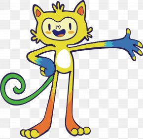 Vector Cartoon Cat - 2016 Summer Olympics Opening Ceremony 2016 Summer Paralympics Rio De Janeiro Vinicius And Tom PNG
