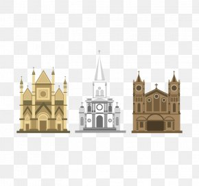 3 Cartoon Church Design Vector Material - Church Architecture Download Cartoon PNG