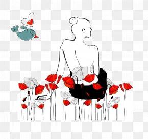 Vector Beauty Rose - Poppy Flower Euclidean Vector Clip Art PNG