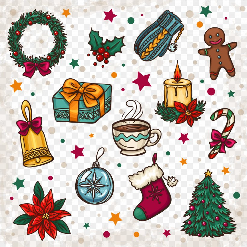 Png Christmas Decorations.Christmas Tree Clip Art Png 2642x2642px Santa Claus