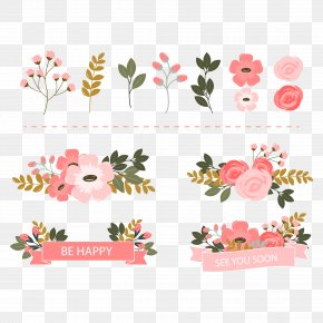 Vector Beautiful Floral Decorations - Floral Design Flower Euclidean Vector PNG
