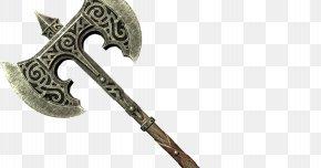 P - The Elder Scrolls V: Skyrim Oblivion Battle Axe Weapon PNG