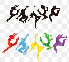 Vector Colorful Dancer - Ballet Dancer Silhouette Clip Art PNG