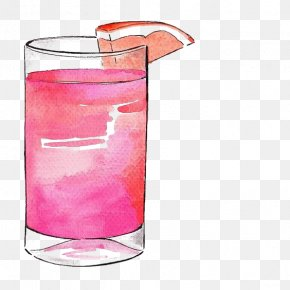 Drink - Cocktail Grapefruit Juice Drink Drawing Illustration PNG