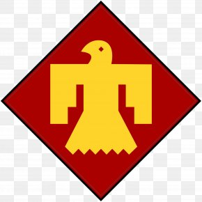 Thunderbird Outline Cliparts - United States Army Second World War 45th Infantry Division PNG