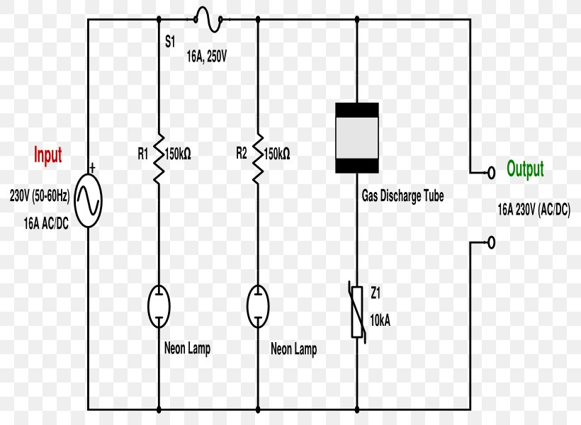 wiring diagram surge protector schematic electrical wires