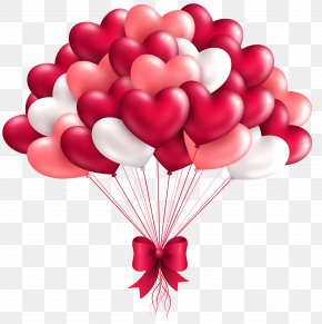 Beautiful Heart Cliparts - Balloon Heart Valentine's Day Clip Art PNG