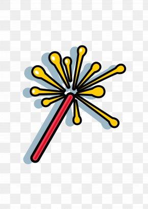 Cartoon Fireworks Celebration Essential - Fireworks Cartoon Clip Art PNG