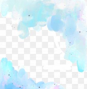 Blue Border - Sky Cloud Text Blue Illustration PNG