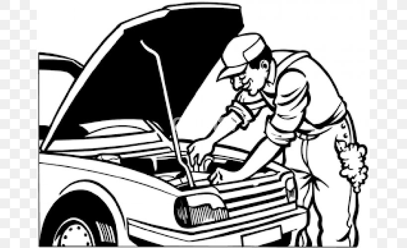 Car Colouring Pages Coloring Book Auto Mechanic Automobile
