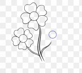 Flower Drawing - Flower Drawing Cartoon Line Art Clip Art PNG