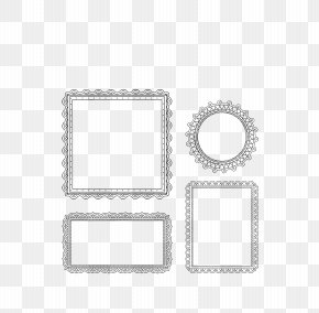 Vector Gray Pattern Mirror Collection - Picture Frame Film Frame Clip Art PNG
