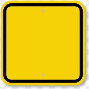 Yellow Square Cliparts - Text Cone Top Sign Message Printing PNG