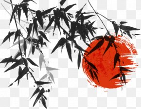 Vector Chinese Painting Style Bamboo Material - Ink Wash Painting Japanese Painting Bamboo PNG